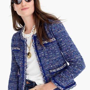 Lady jacket in multicolor cobalt tweed